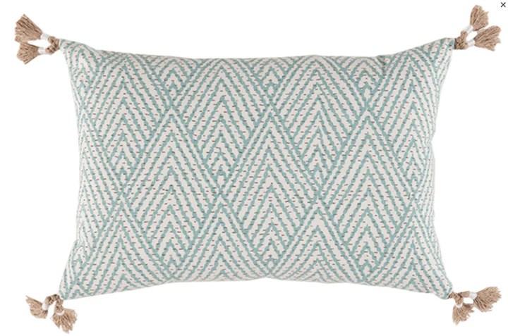 tahitian stitch lumbar pillow