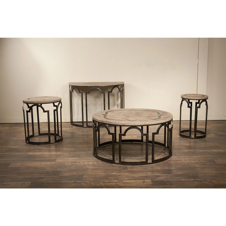 barrow sofa table broyhill mckinney reviews estelle demilune by riverside furniture