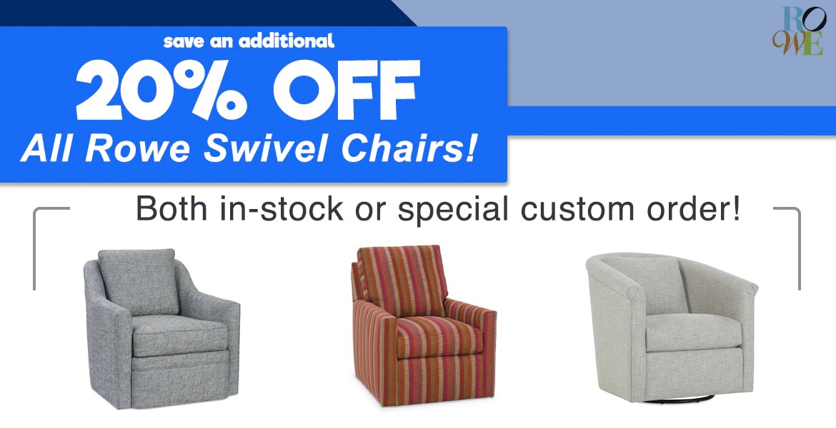 swivel chairs for sale hanging chair groupon rowe barrow fine furniture
