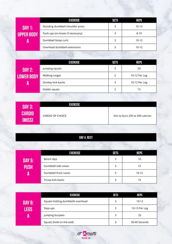 30 Day Teen Workout Plan - Fit Affinity