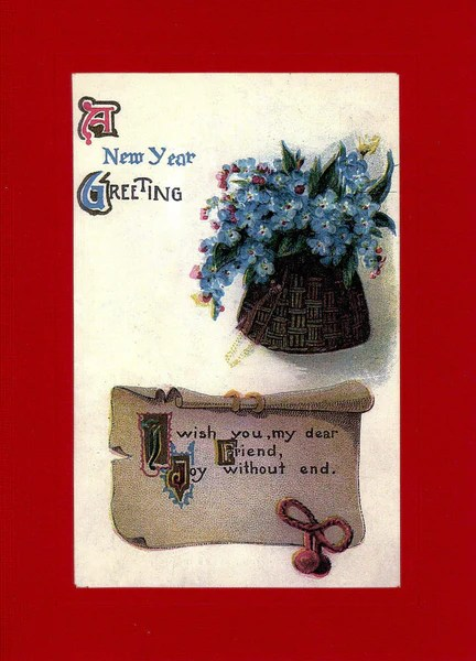 A New Year Greeting Plymouth Cards