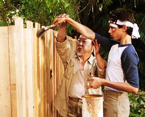 Image result for pictures of the karate kid painting