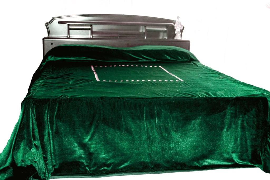 luxury bedspread in dark green velvet couture bed linen in luxe velvet king size bedspread 110