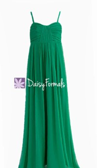 Jade Green Junior Bridesmaid Dress Empire Waist Junior ...