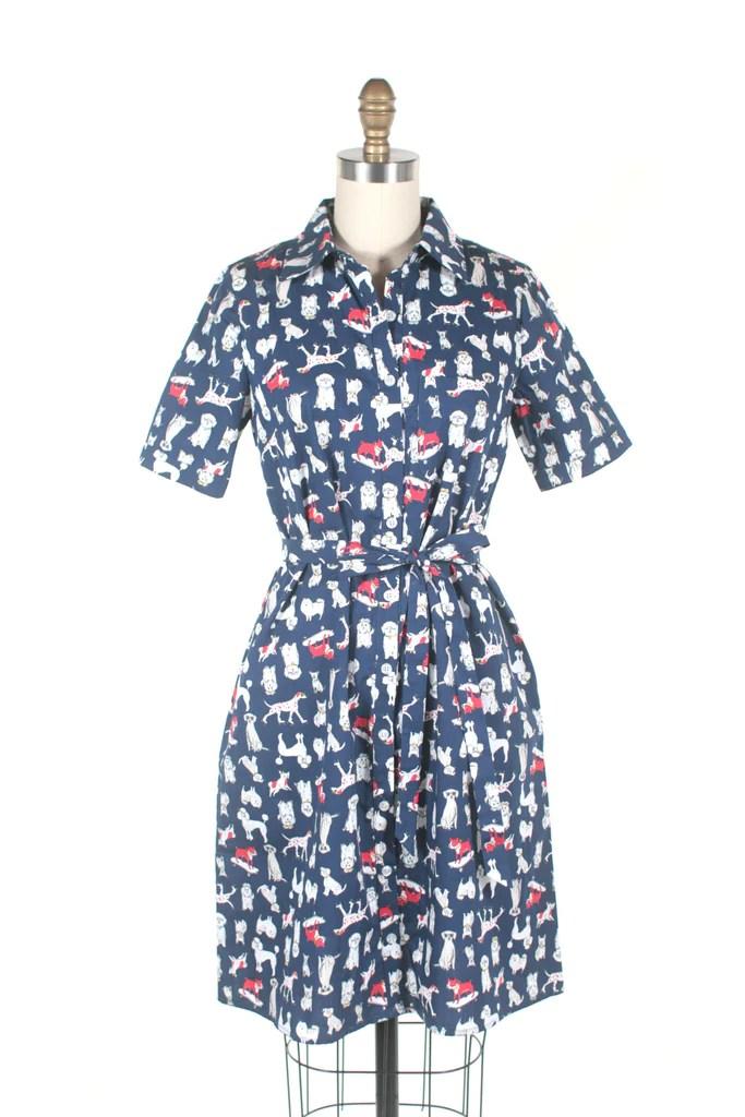 Dog Shirt Dress in Navy + PLUS SIZE  Frock Shop