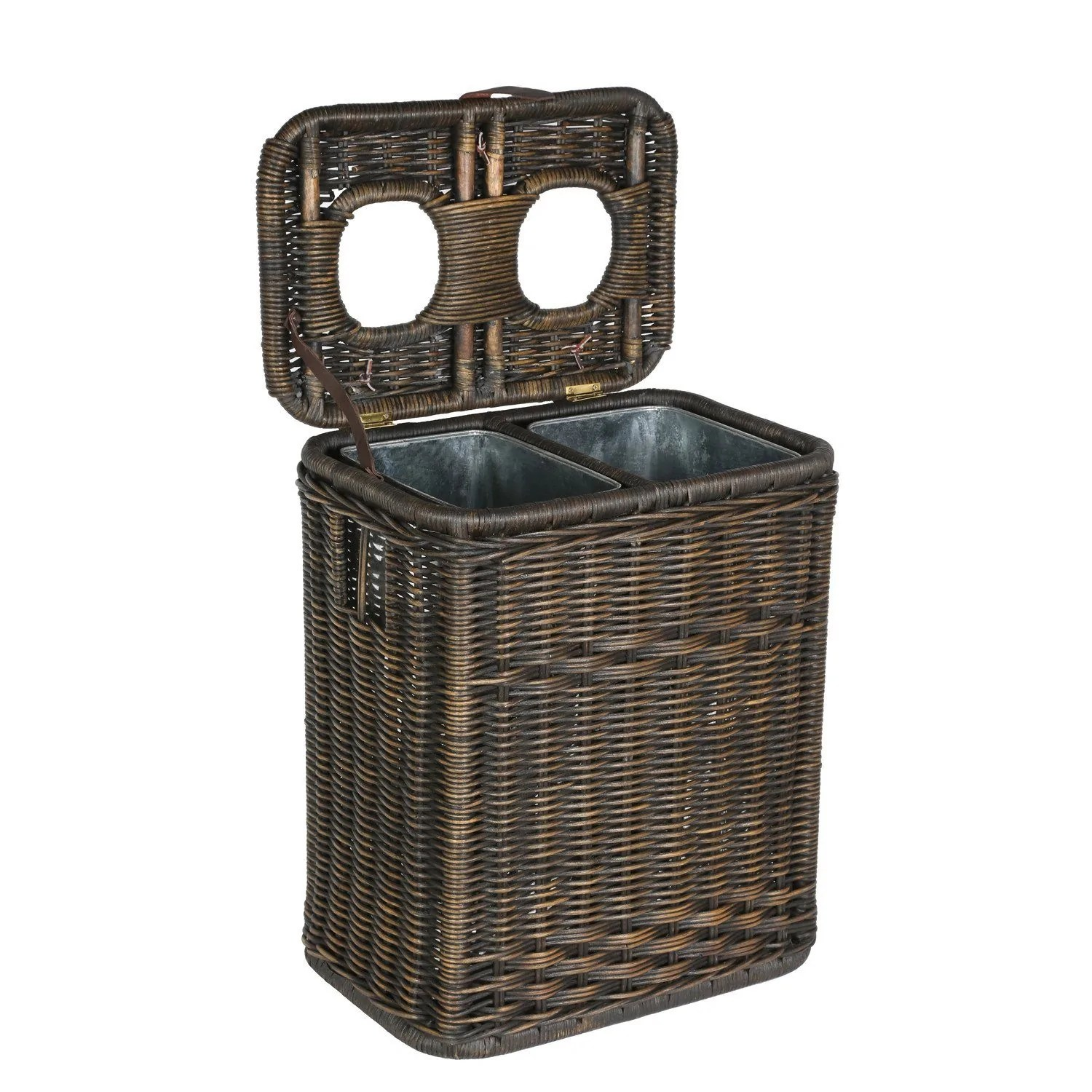 tall kitchen trash cans washable cotton rugs for wicker waste & recycling cans, baskets, and bins - the ...