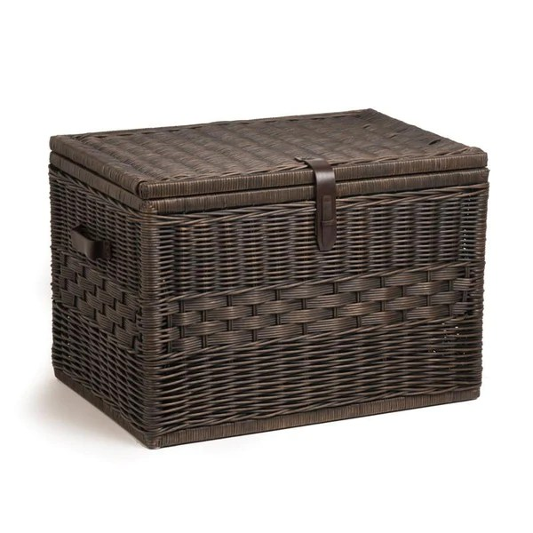 kitchen shelf liners faucet clearance deep wicker storage trunk | large chest - the ...