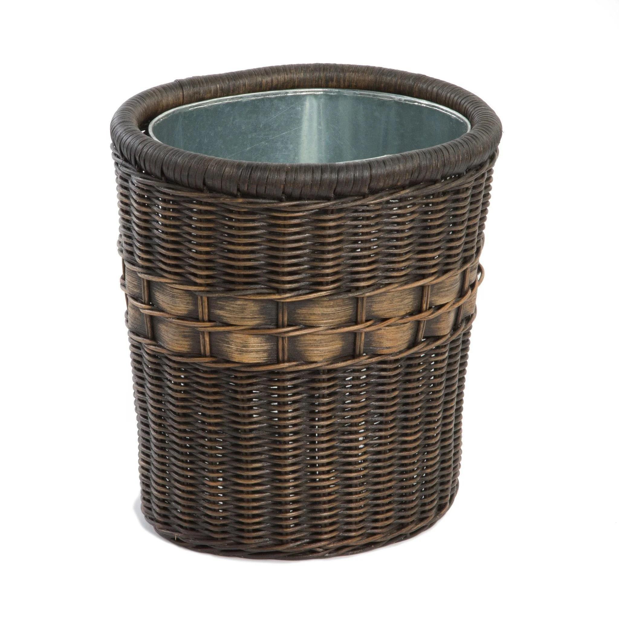 World' Smartest Wicker Waste Basket - Lady
