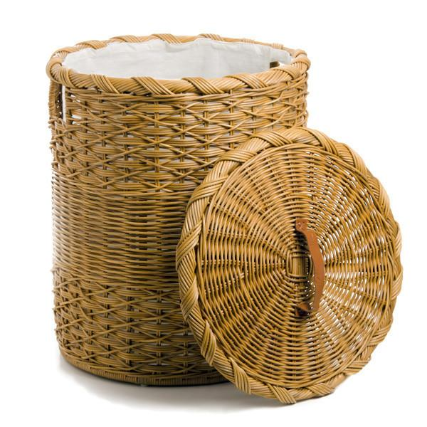 Round Wicker Laundry Hamper Fabric Liner The Basket Lady