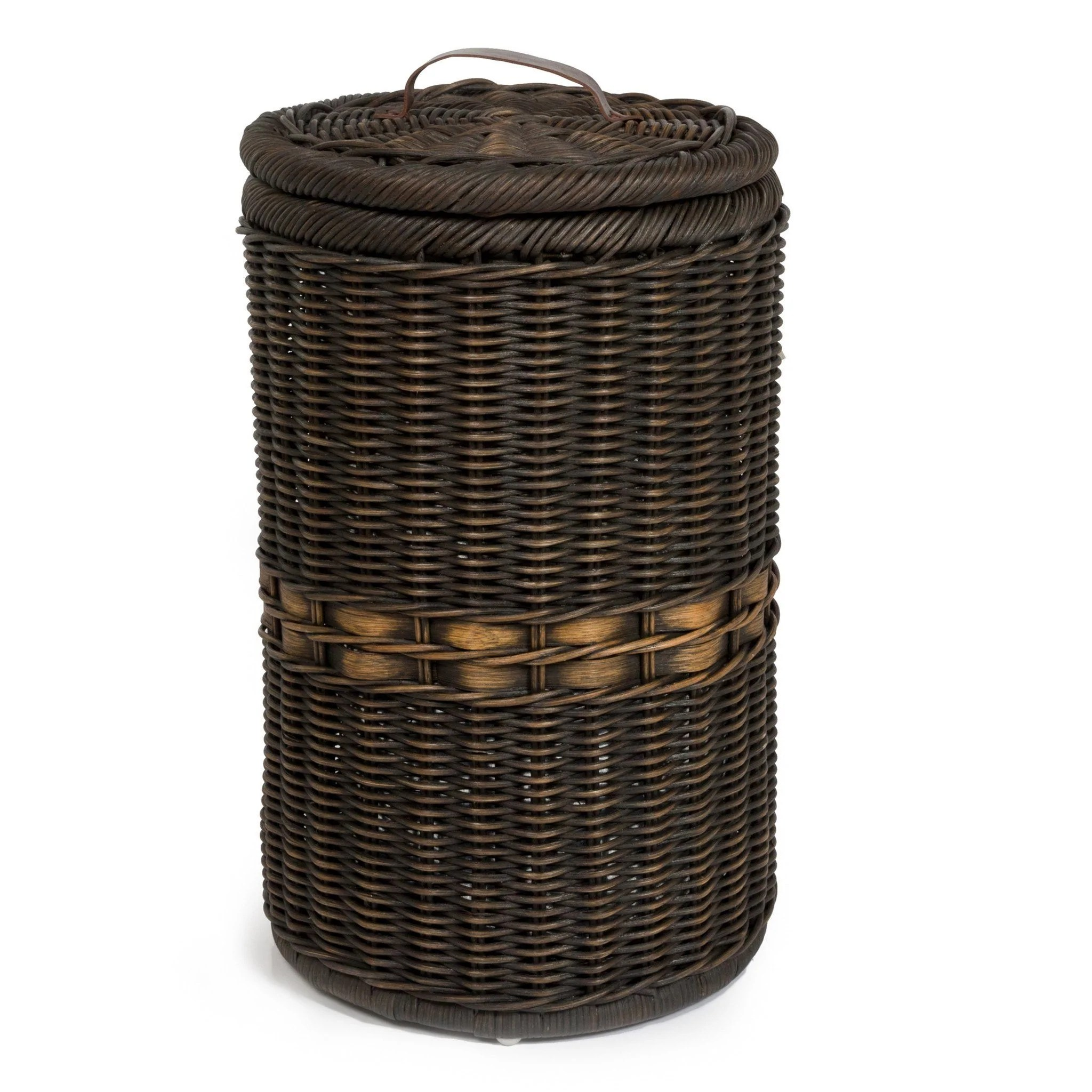 Tall Wicker Waste Basket With Metal Liner - Lady