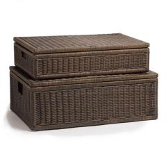 Kitchen Trash Can Dimensions Wood Tile Floor Underbed Wicker Storage Box | The Basket Lady