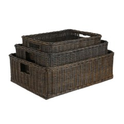Small Recycling Bins For Kitchen Renew Cabinets Wicker Underbed Storage Baskets, & Containers - The ...
