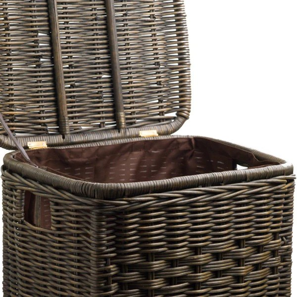 Fabric Liner For Narrow Rectangular Wicker Laundry Hamper  The Basket Lady