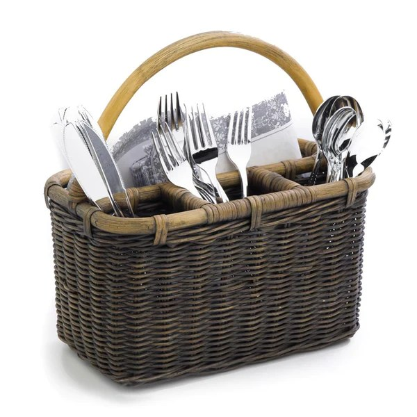 kitchen knives for sale wall shelving wicker utensil caddy   the basket lady