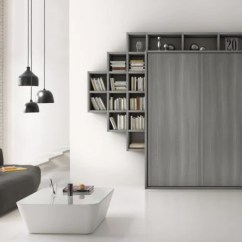Murphy Bed In Small Living Room Peach The Sofa Store Contemporary