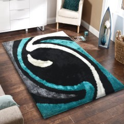 Persian Rug Modern Living Room Tile Designs For Floors Soft Black With Grey And Green Indoor Bedroom Shag Area ...