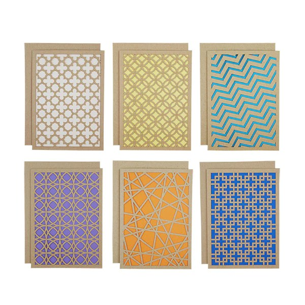 Geometric Laser Cut Card Set Alexis Mattox Design