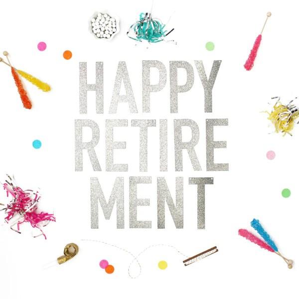 retirement banner clipart