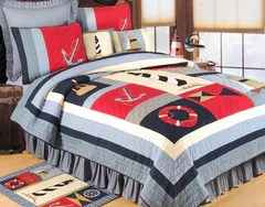 Patterned Coverlets Beach House Linens