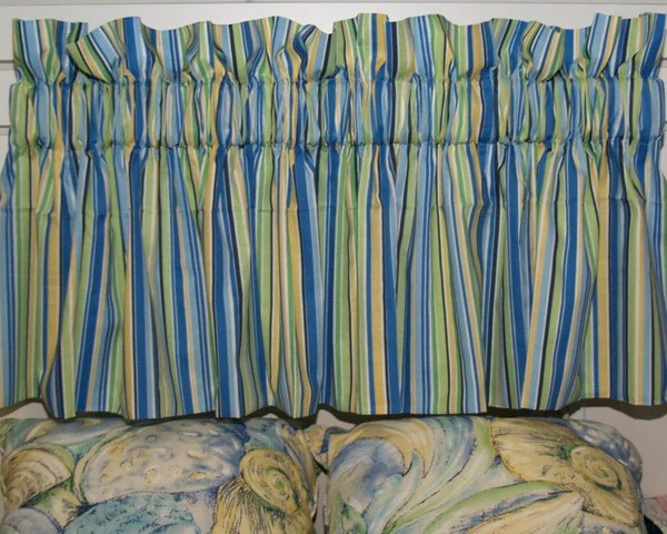 yellow kitchen towels outdoor table multi blue, and green stripe valance, gorgeous ...