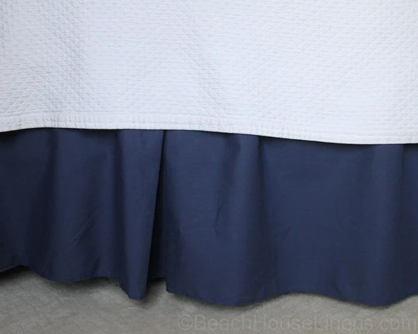Classic Navy Dust Ruffle In 15 Quot 18 Quot Drop In Two Styles