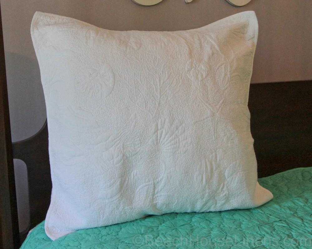 White Matelasse Quilt Shells