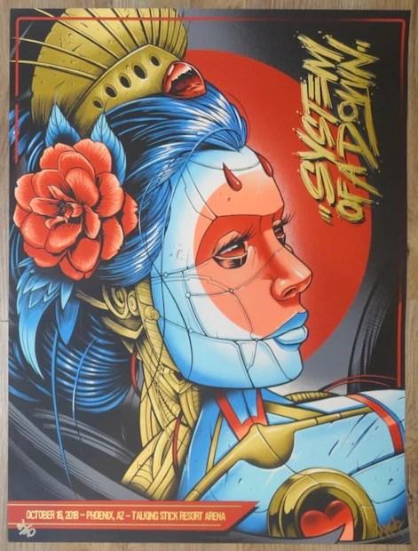 phoenix silkscreen concert poster by