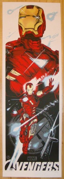 2012 avengers iron man movie poster by rhys cooper