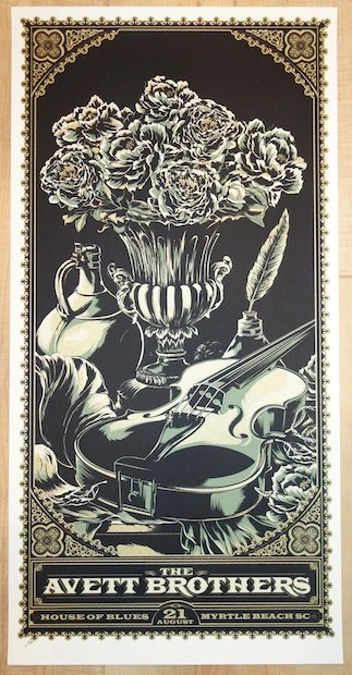 concert posters the avett brothers