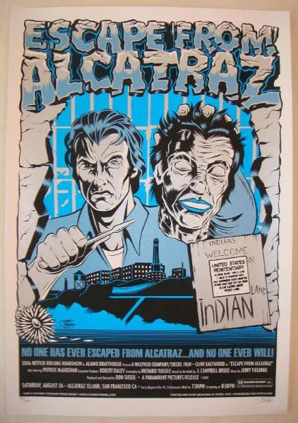 2006 Escape From Alcatraz Silkscreen Movie Poster by Stainboy  JoJos Posters
