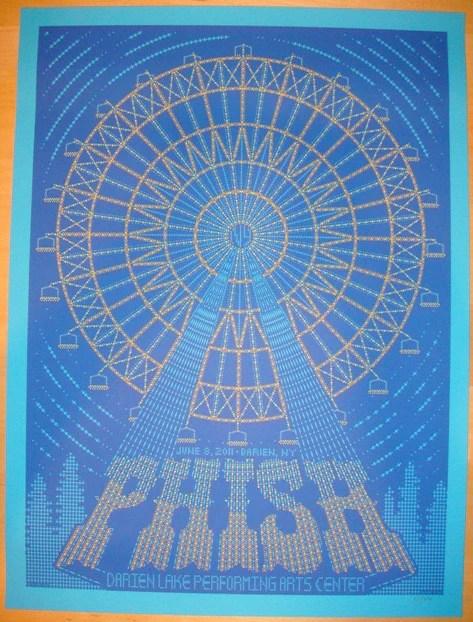 2011 Phish  Darien Lakes Silkscreen Concert Poster by Todd Slater  JoJos Posters