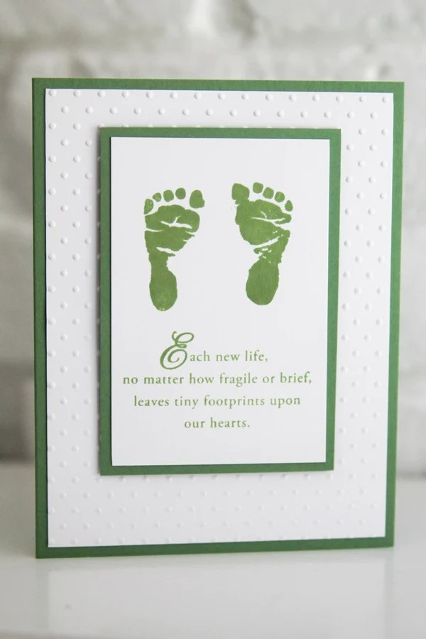 Baby Footprints Sympathy Card Sorry For Your Loss Infant