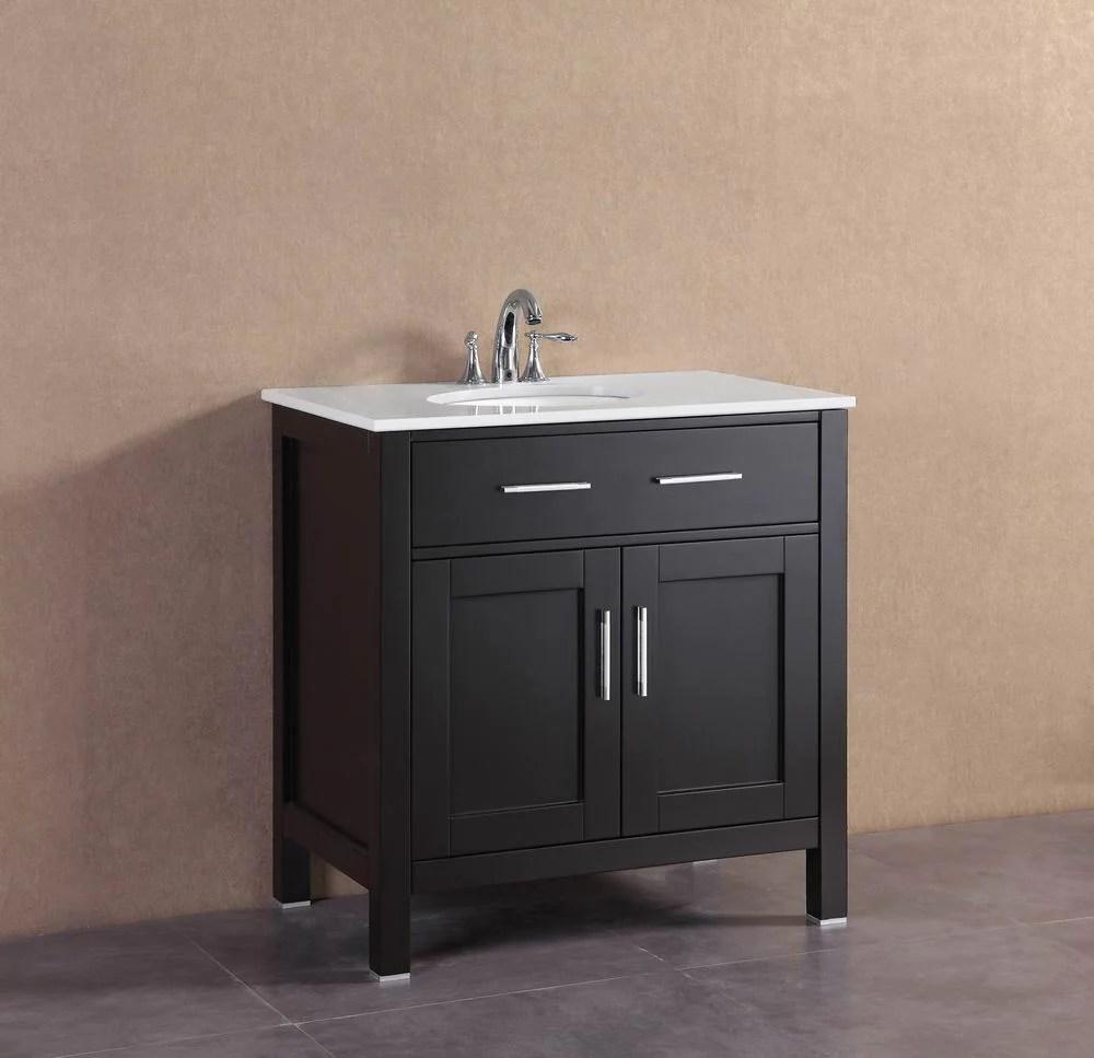 Ralph 32 inch Modern Espresso Freestanding Bathroom