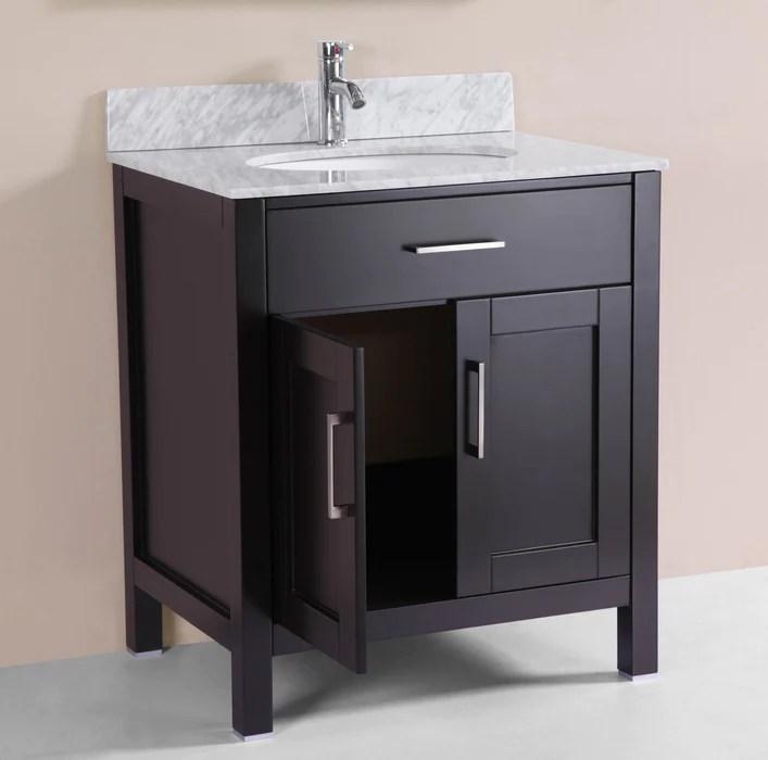 Keegan 30 inch Freestanding Modern Espresso Bathroom