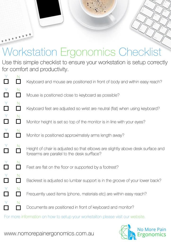 Download our Workstation Ergonomic Checklist Resource