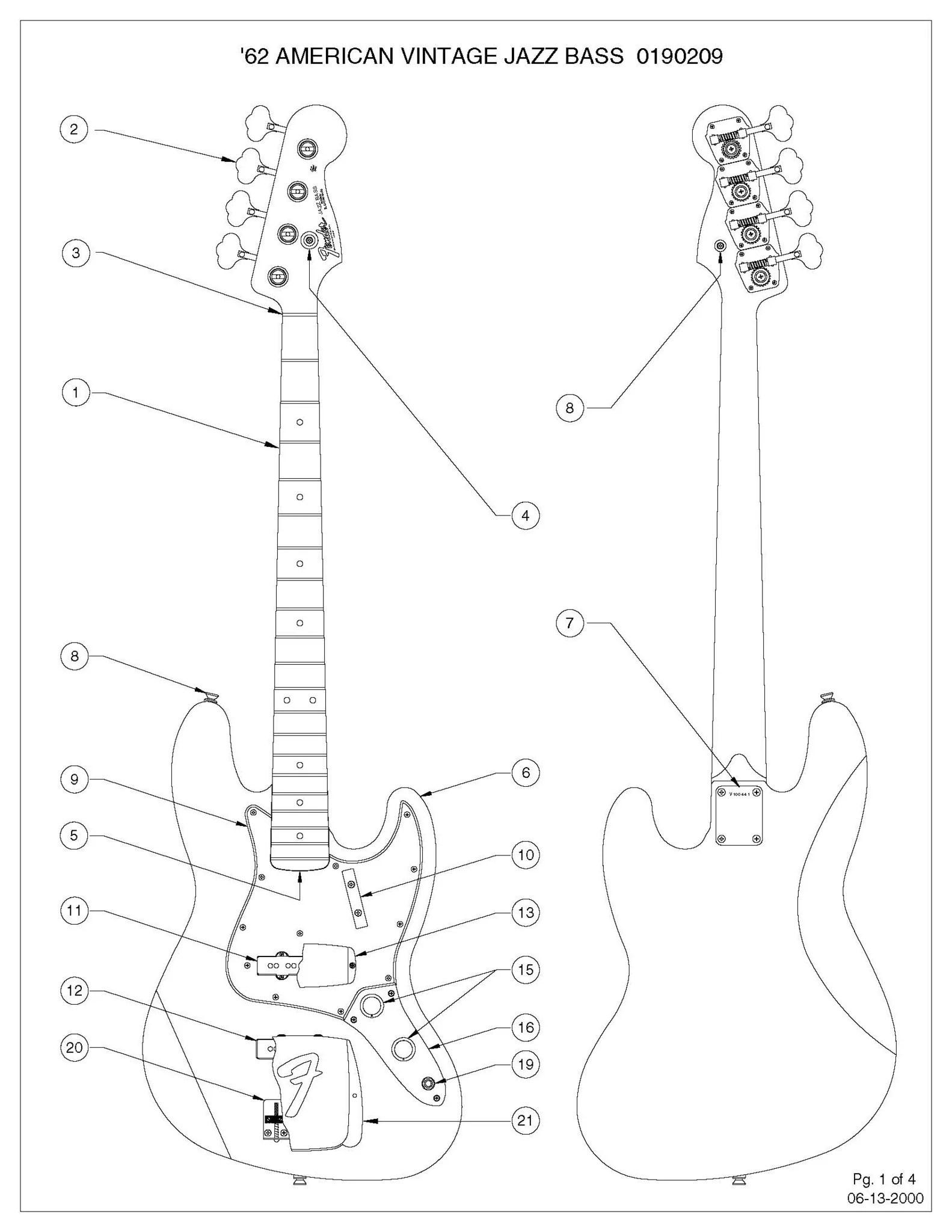Diagrams jazz bass concentric sigler music