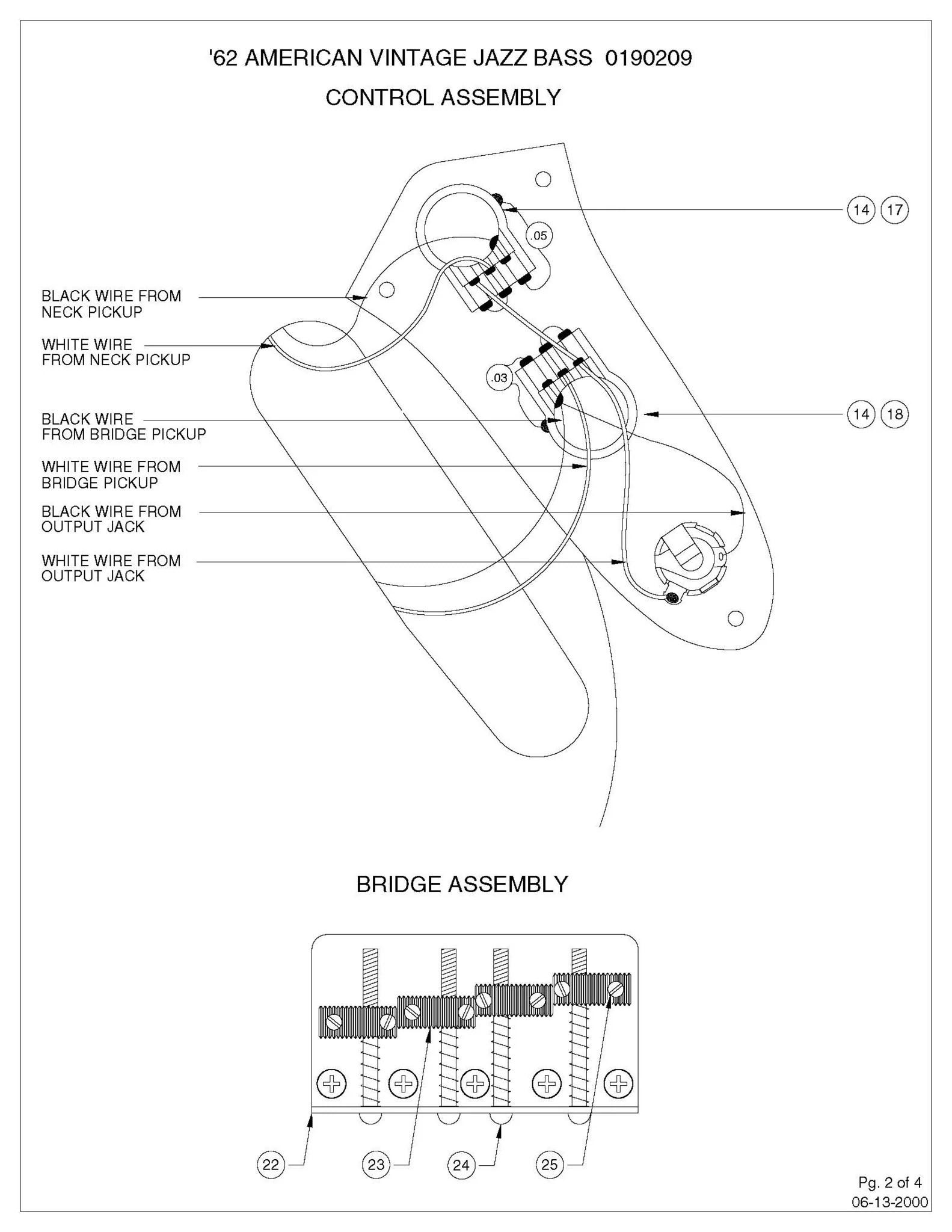 Diagrams  Jazz Bass Concentric – Sigler Music