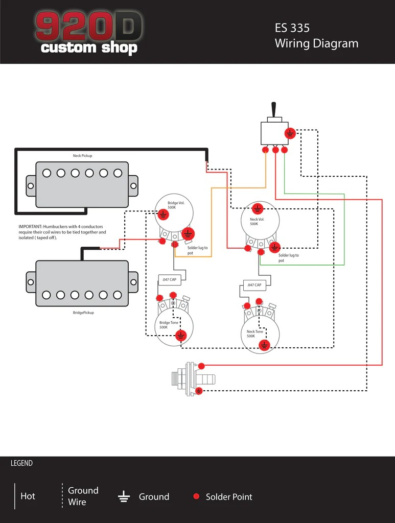 small resolution of 335 humbucker wiring diagram