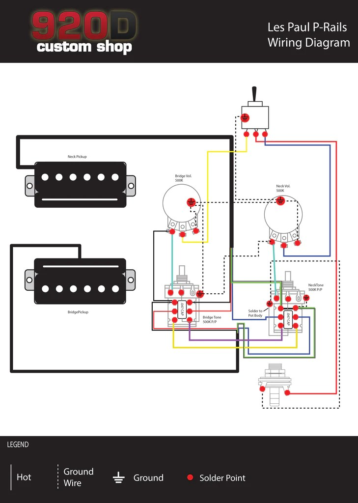 Amp Wiring Diagram Diagrams Les Paul P Rails Sigler Music