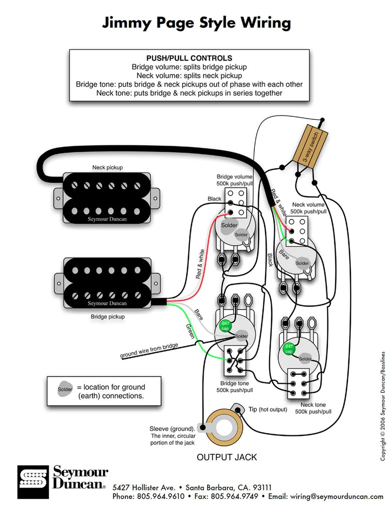 3 pickup wiring diagram ap50 cruise control diagrams les paul jimmy page sigler music