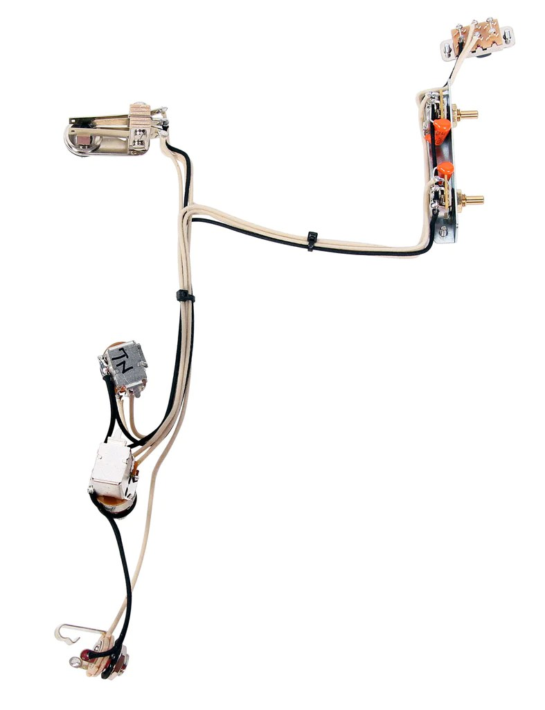 920d fender jazzmaster guitar wiring harness w 2 push pull pots [ 787 x 1024 Pixel ]