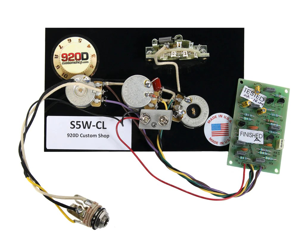 hight resolution of 920d custom s5w cl 5 way stratocaster wiring harness w master tbx ton sigler music