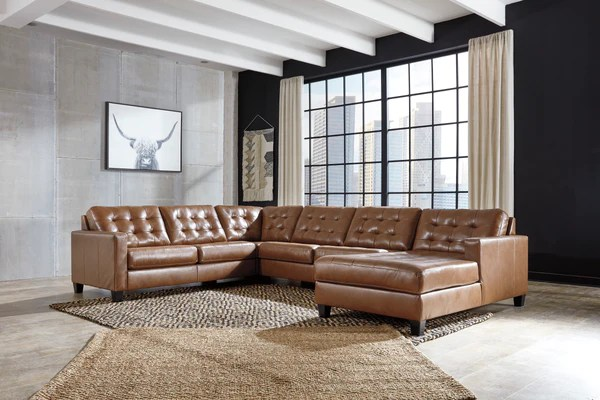 baskove leather u shaped sectional austin s furniture outlet