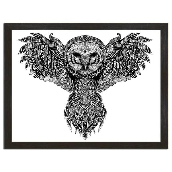 Majestic Owl Art Print  Sharp Shirter