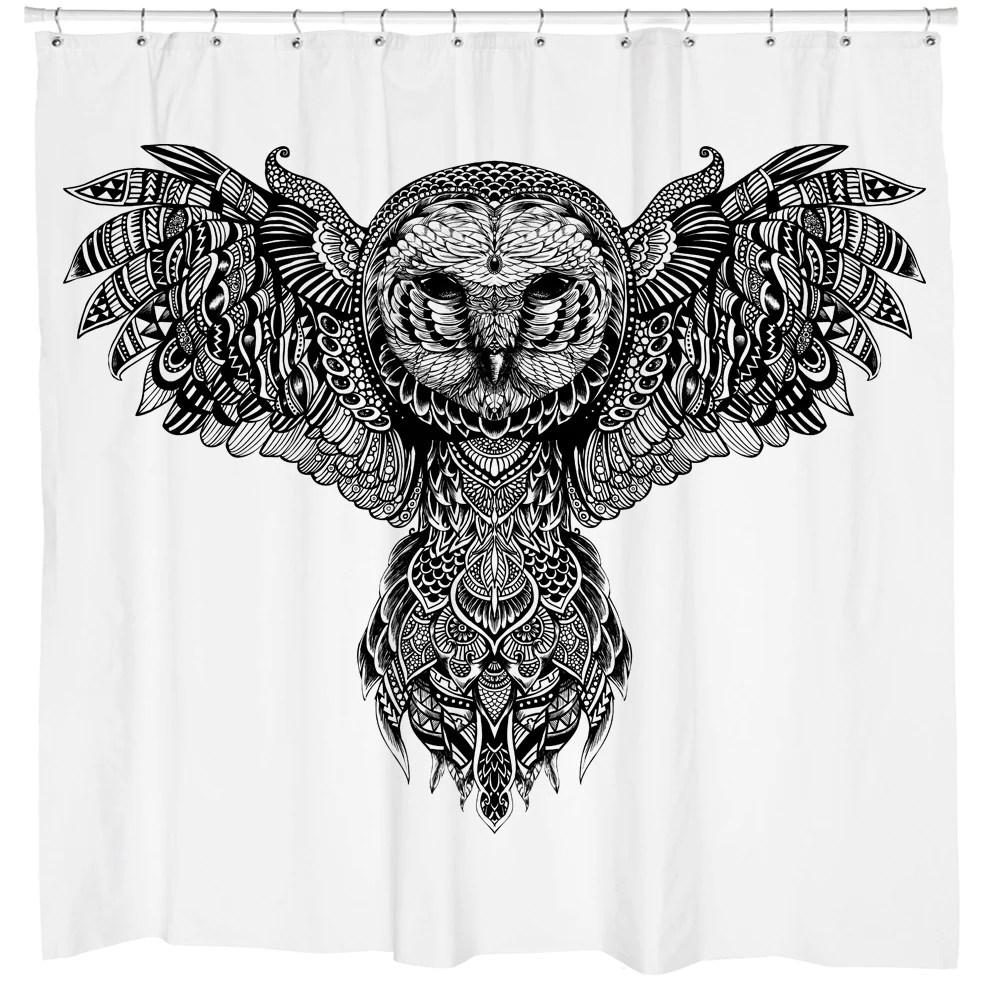 majestic owl shower curtain