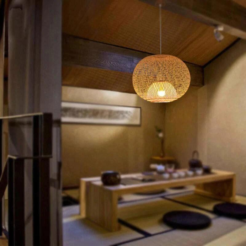 bamboo rattan wicker chandelier by artisan living