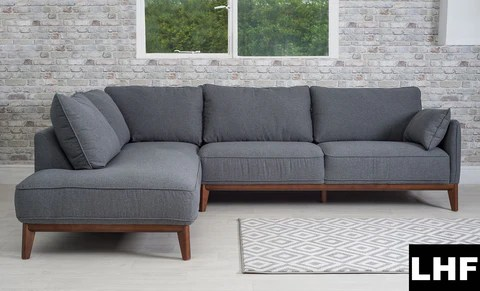 large dark grey corner sofa klaussner holly reviews kendall jackson cove furniture blackpool