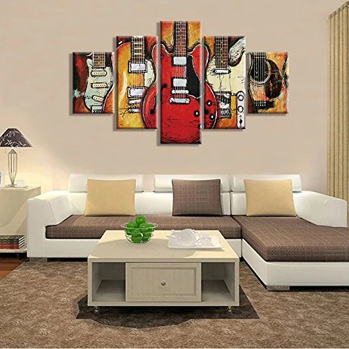 guitar music wall art