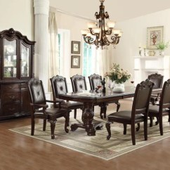 Formal Living Room Set Tiffany Blue Decor 7 Pc Kiera Dining Mindys Home Goods