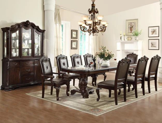 7 Pc Kiera Formal Dining Room Set Mindys Home Goods